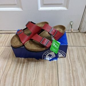 Birkenstock red Arizona Sandal